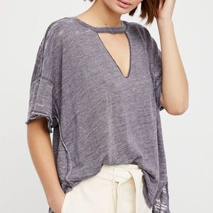 Free People | cutout choker flowy top